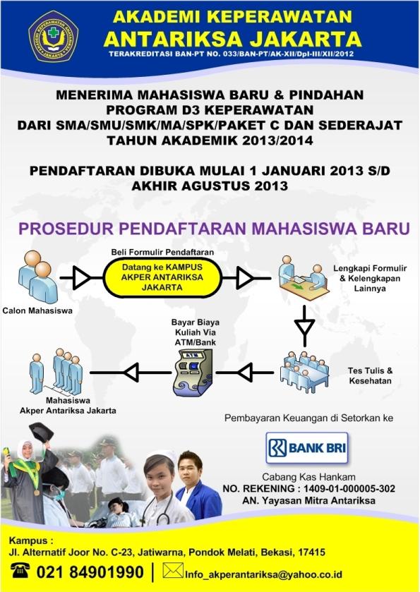 Prosedur Penerimaan Mahasiswa Baru TA. 2013/2014